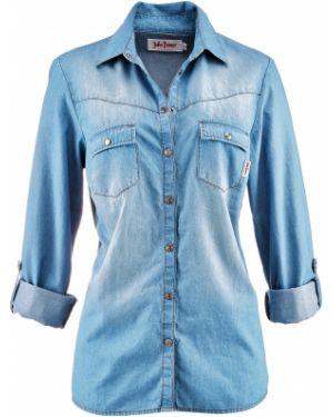 Рубашка с длинным рукавом на кнопках Bonprix