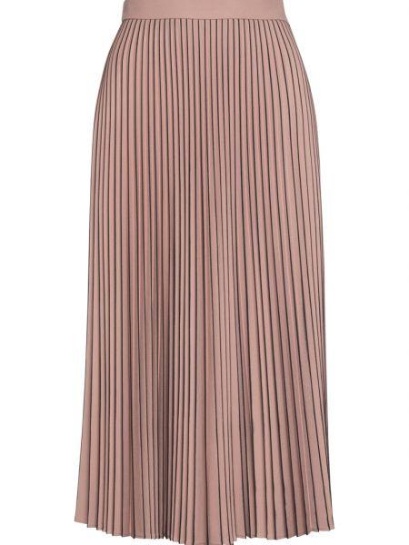 Расклешенная розовая с завышенной талией плиссированная юбка из вискозы Vassa&co
