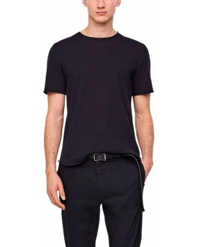 Czarny sweter krótki rękaw Sarah Pacini