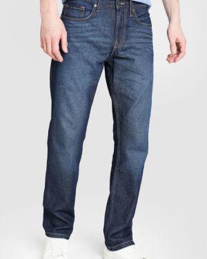 Синие прямые джинсы с карманами на пуговицах с жемчугом Ostin