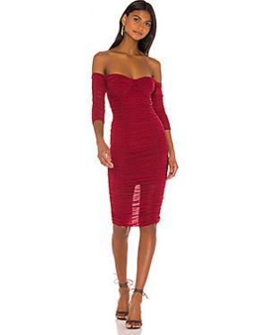 Платье миди с декольте сетчатое Majorelle
