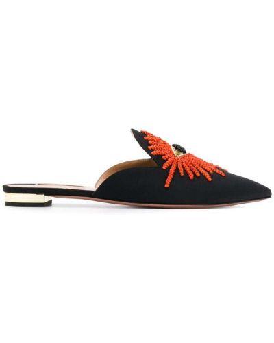 Мюли черный на каблуке Aquazzura