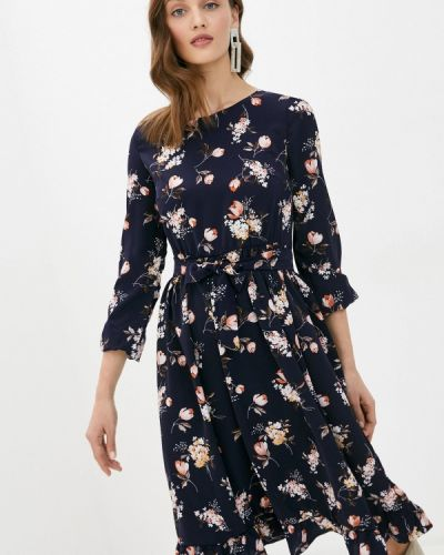 Прямое синее платье Imocean
