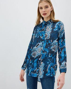 Блузка с длинным рукавом осенняя синяя Koton