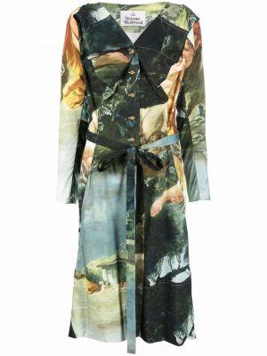 Платье макси длинное - зеленое Vivienne Westwood