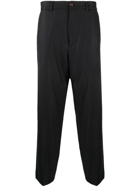 Bawełna czarny spodni spodnie z paskiem Gucci