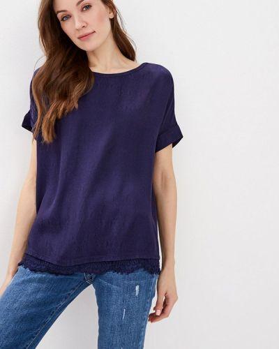 Блузка с коротким рукавом турецкий синяя Lusio