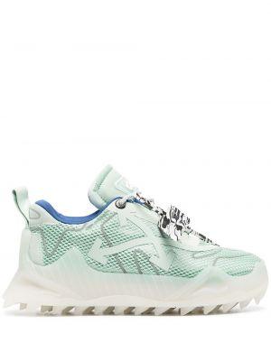 Белые кроссовки на шнурках сетчатые Off-white