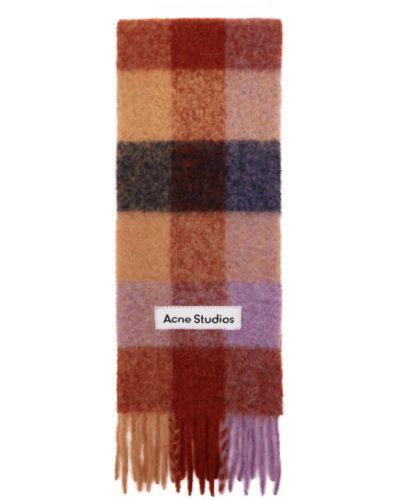 Коричневый шерстяной шарф с заплатками Acne Studios
