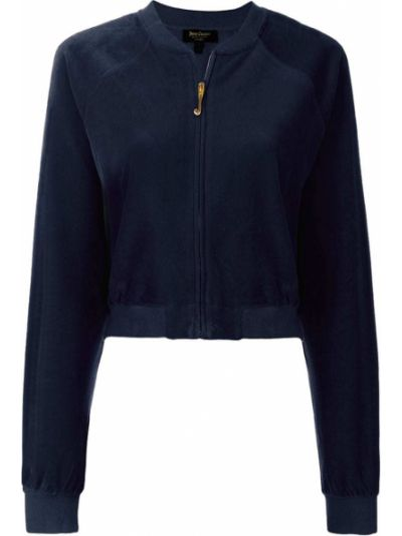Синяя короткая куртка с манжетами Juicy Couture