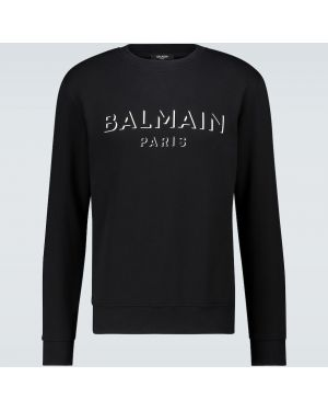 Bluza z logo z nadrukiem Balmain