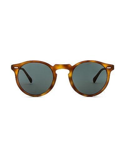 Солнцезащитные очки винтажные - коричневые Oliver Peoples