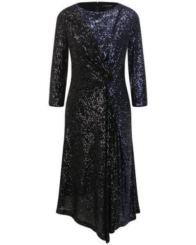 Платье с пайетками - черное St. John