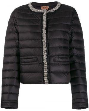Длинная куртка черная стеганая Liu Jo
