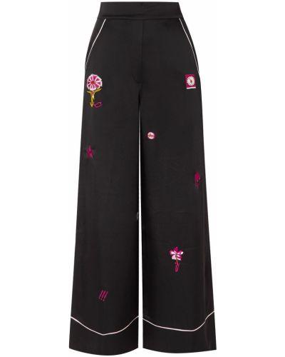 Черные брюки с карманами свободного кроя Temperley London