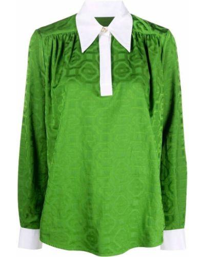 Рубашка с длинным рукавом - зеленая Casablanca