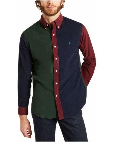 Czerwona koszula bawełniana z haftem Polo Ralph Lauren