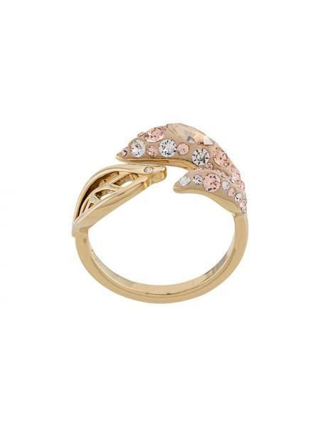 Złoty pierścionek Atelier Swarovski