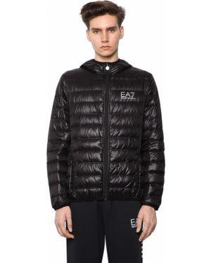 Куртка с капюшоном на молнии с логотипом Ea7 Emporio Armani