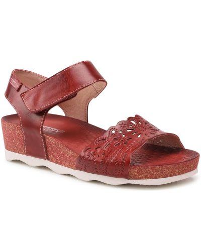 Sandały bordowe Pikolinos