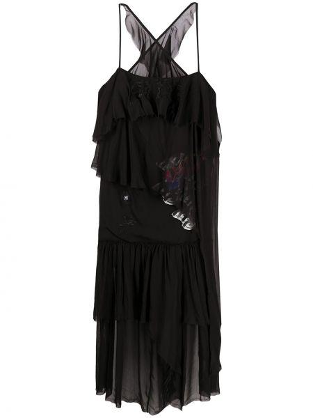 Платье на бретелях черное Diesel