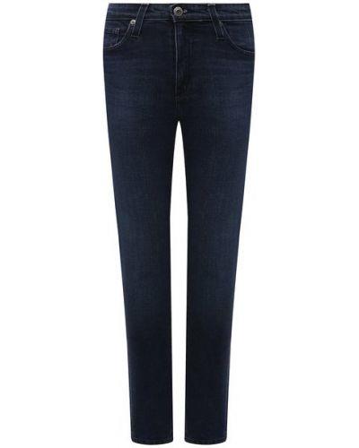 Синие хлопковые джинсы Ag