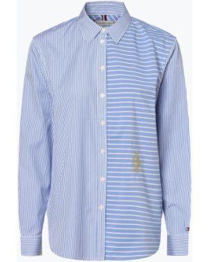 Niebieska bluzka w paski z haftem Tommy Hilfiger