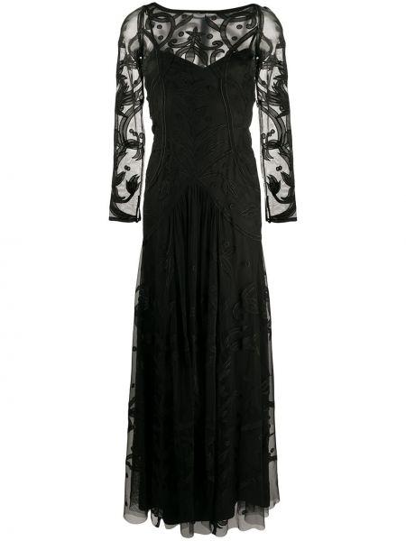 Платье макси с вышивкой сетчатое Temperley London