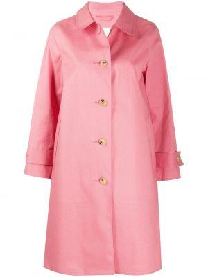 Розовое пальто классическое с воротником на пуговицах Mackintosh