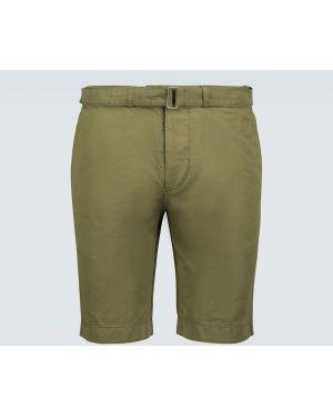 Оливковые короткие шорты с поясом Officine Generale