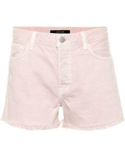 Джинсовые шорты с завышенной талией розовый J Brand
