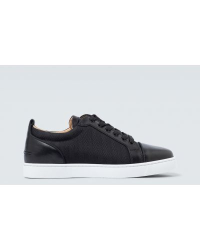 Czarny włókienniczy sneakersy Christian Louboutin