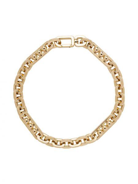 Piłka łańcuch ze złota złoto metal Prada