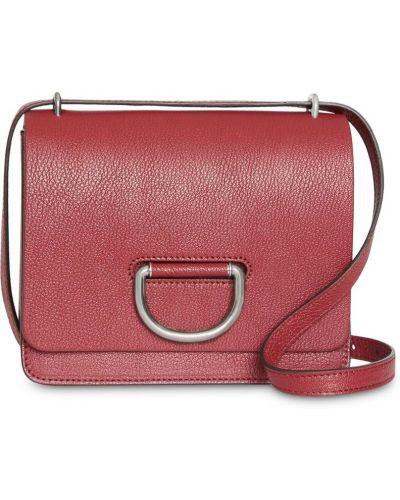Маленькая сумка с пряжкой красная Burberry
