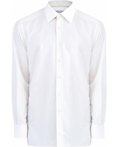 Классическая рубашка прямая шелковая Stefano Ricci