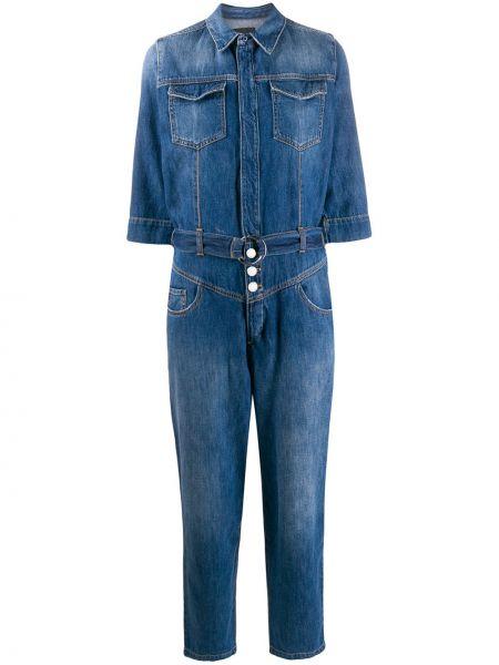 Синий классический джинсовый комбинезон Pinko