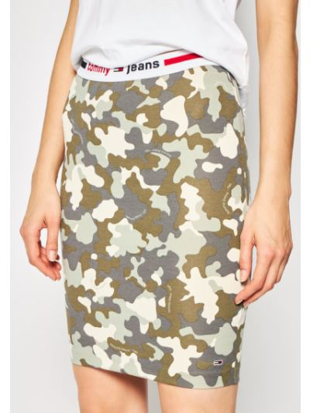 Zielona spódnica ołówkowa Tommy Jeans
