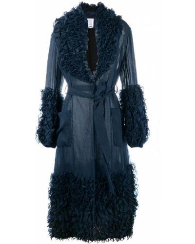 Синее пальто с капюшоном Rosie Assoulin