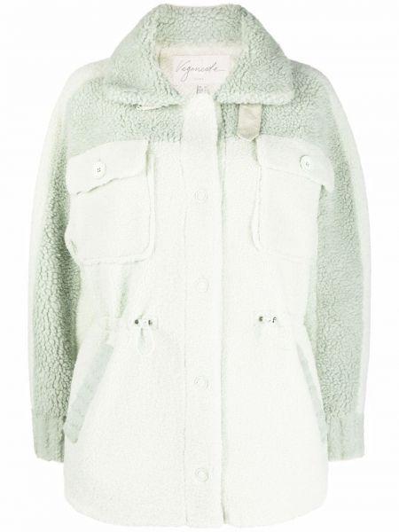 Zielony płaszcz zapinane na guziki Urbancode