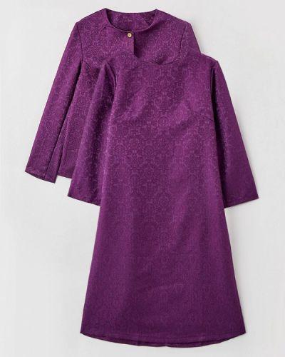 Костюмный фиолетовый юбочный костюм Prewoman