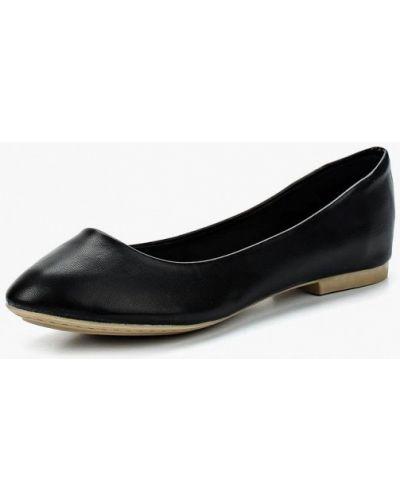 Черные балетки кожаные United Colors Of Benetton