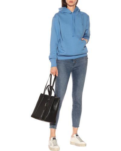 Bawełna zawężony bawełna niebieski obcisłe dżinsy J-brand