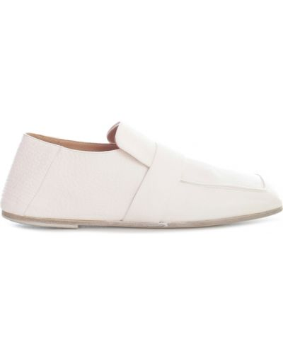 Białe loafers Marsell