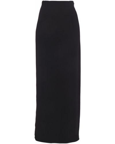 Черная юбка макси с подкладкой из вискозы Giorgio Armani