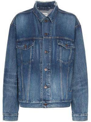 Хлопковая синяя джинсовая куртка Balenciaga