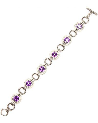 Фиолетовый браслет с фианитом Honey