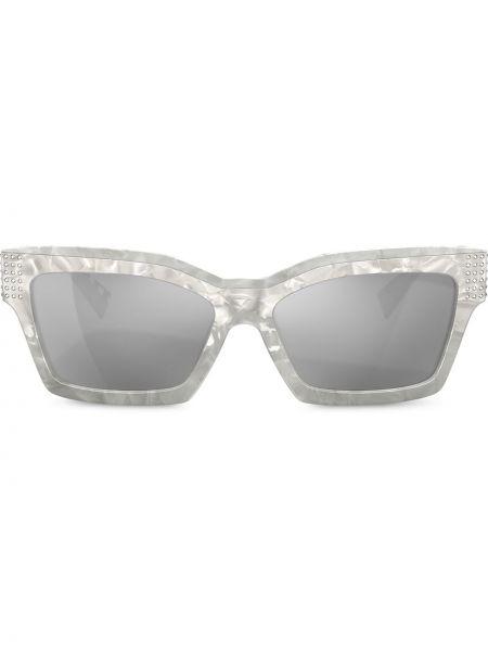 Białe okulary srebrne Alain Mikli