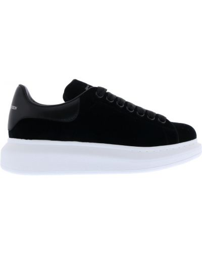 Złote czarne sneakersy oversize Alexander Mcqueen