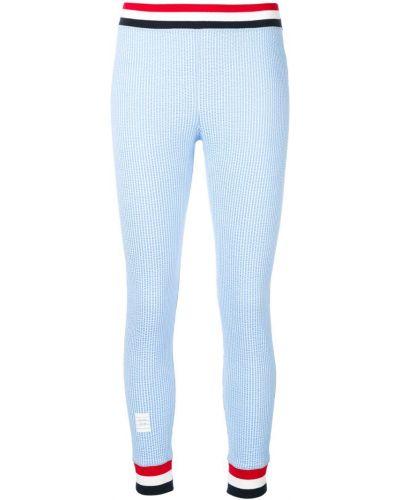 Синие леггинсы эластичные Thom Browne