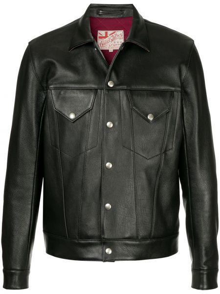 Кожаная черная кожаная куртка Addict Clothes Japan
